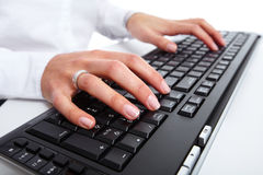 Hand with a computer mouse. Stock Photography