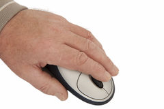 Hand on Computer Mouse Royalty Free Stock Photo