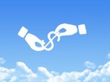 Hand concept cloud shape Stock Image