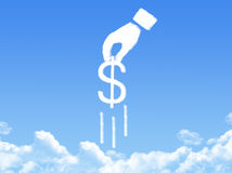 Hand concept cloud shape Stock Photo