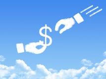 Hand concept cloud shape Stock Images