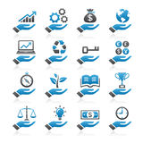 Hand concept color icons. Stock Photography