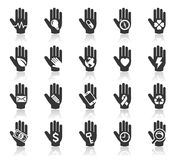 Hand concept icons. illustration. Stock Photography