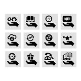 Hand concept icons Stock Images