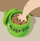 Hand in Cookie Jar royalty free illustration