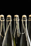 Hand Corked And Tied Champagne Bottles Royalty Free Stock Photo