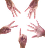 Hand count one to five Stock Image
