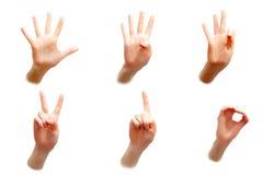 Hand countdown Stock Photo