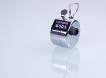 Hand counter clicker Stock Image