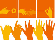 Hand counting. Vector illustration of hand counting Stock Photos