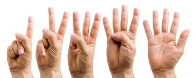 Hand Counting Royalty Free Stock Photos