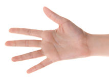 Hand counting: five Stock Photos