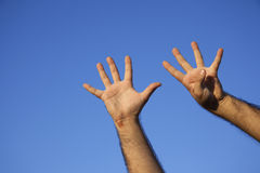 Hand Counting Royalty Free Stock Photo