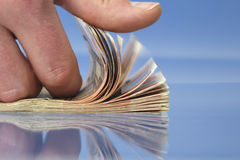 Hand counting money Stock Photo