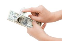 Hand counting money Royalty Free Stock Image