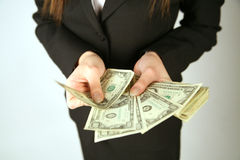 Hand counting money Royalty Free Stock Photography
