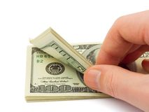Hand counting money Royalty Free Stock Photo