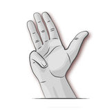 Hand while counting. And number four Royalty Free Stock Photography
