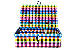 Hand craft plastic basket set Royalty Free Stock Photography
