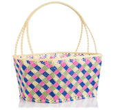 Hand craft plastic basket with shadow Royalty Free Stock Image