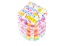 Hand craft plastic box with colorful Royalty Free Stock Photos