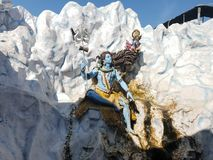 Hand crafted beauty of god. God shiva crafted by architect in india haridwar the city beautiful and every natural impact of city is beautiful too royalty free stock image