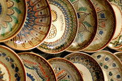Hand crafted bowls from Maramures Romania. stock image