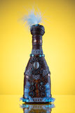 Hand-crafted decorative bottle Stock Image