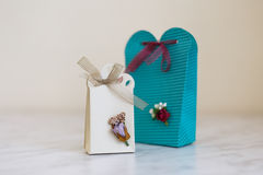 Hand Crafted Gift Box Royalty Free Stock Photography