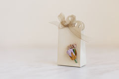 Hand Crafted Gift Box Royalty Free Stock Photos
