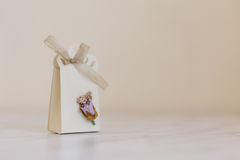 Hand Crafted Gift Box Royalty Free Stock Images