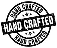Hand crafted stamp. Hand crafted grunge stamp on white background royalty free illustration
