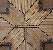 Hand crafted match stick square. Stock Images