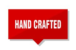 Hand crafted red tag. Hand crafted red square price tag royalty free illustration