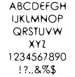 Hand crafted retro font alphabet 'scratch gothic Stock Photos