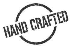Hand crafted stamp. Hand crafted round grunge stamp. hand crafted sign. hand crafted royalty free illustration