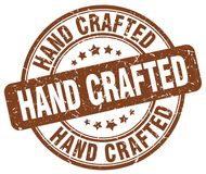 Hand crafted stamp. Hand crafted round grunge stamp isolated on white background royalty free illustration