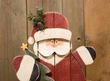 Hand crafted santa Royalty Free Stock Photo