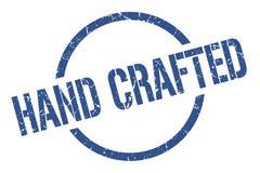 Hand crafted stamp. Hand crafted round grunge stamp. hand crafted sign. hand crafted stock illustration