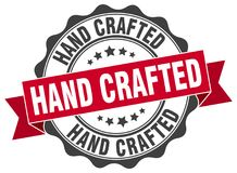Hand crafted stamp. Hand crafted grunge stamp on white background stock illustration