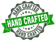 Hand crafted stamp. Hand crafted grunge stamp on white background vector illustration