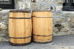 Hand Crafted Water Barrels Royalty Free Stock Photo