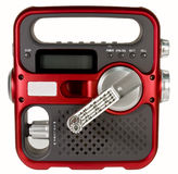 Hand crank emergency radio. Hand crank powered emergency radio isolated over white background with clipping path at original size Royalty Free Stock Photography