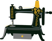 Hand Crank Sewing Royalty Free Stock Image
