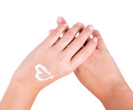 Hand cream Stock Images