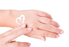 Hand cream. Isolated on white background Stock Image