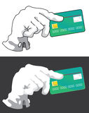 Hand with credit card Stock Photography