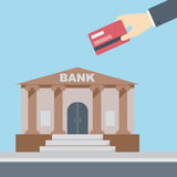 Hand credit card bank Stock Images