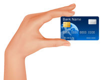 Hand with credit card. Business concept. Royalty Free Stock Photo
