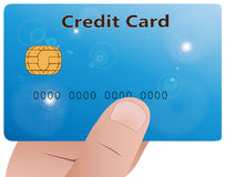 Hand with credit card Royalty Free Stock Images